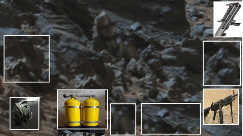"""Уфолог сравнил обломки на фотографии с аналогичными """"земными"""" предметами."""