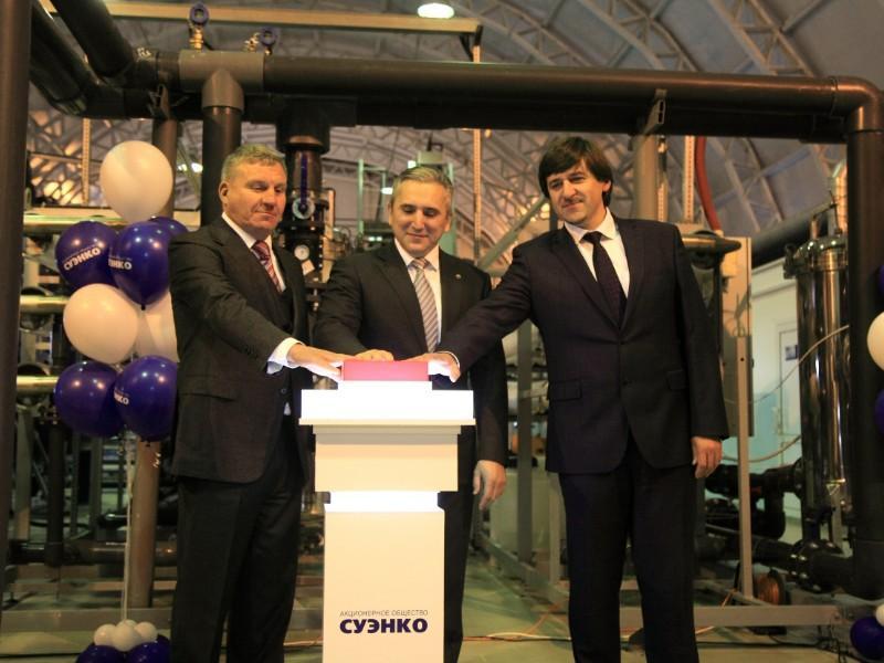 Губернатор области, мэр Тобольска и представитель инвестора открыли водозаборную станцию