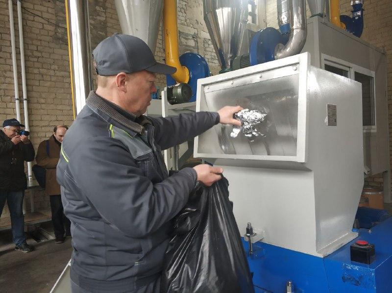 Процесс переработки мусора