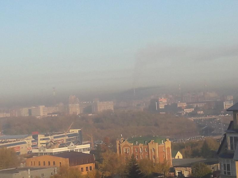 Город окутан пеплом