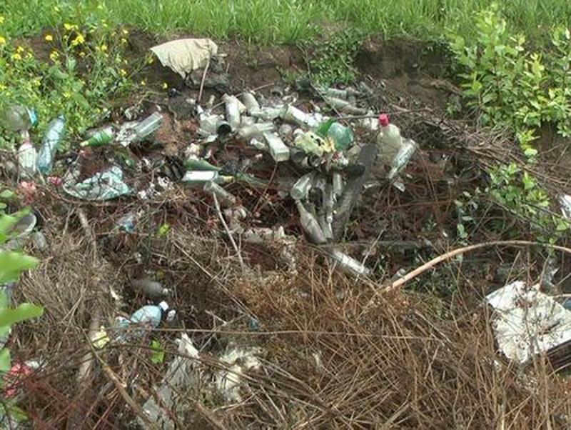 Кладбища щавалены мусором