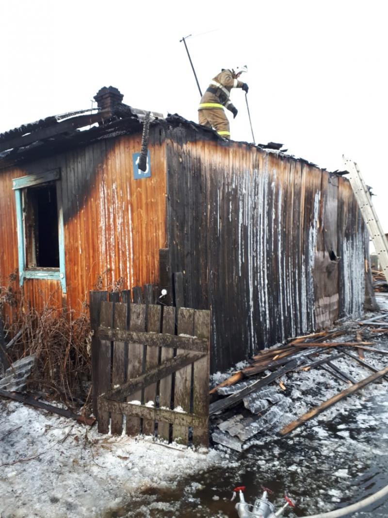 Пожар в Кондинском районе