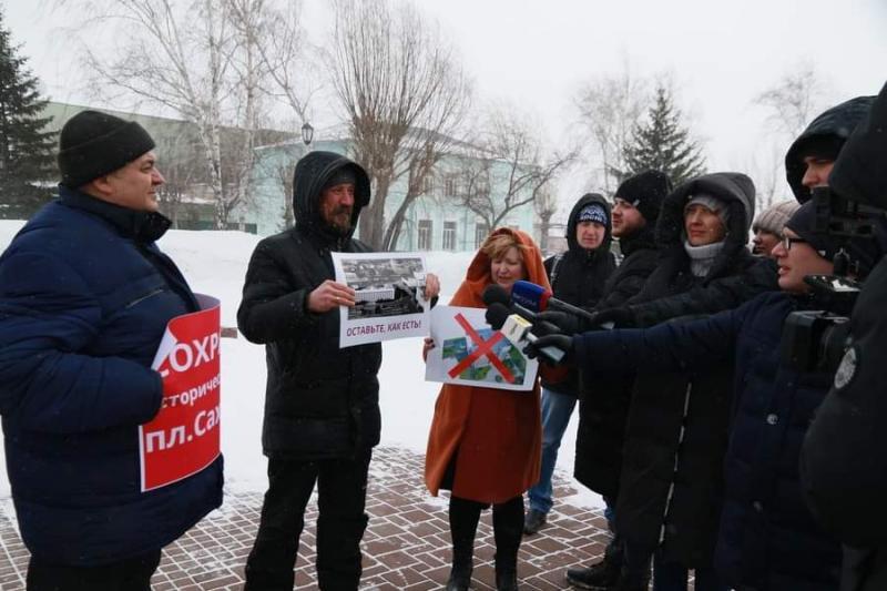 Митинг против строительства вуза
