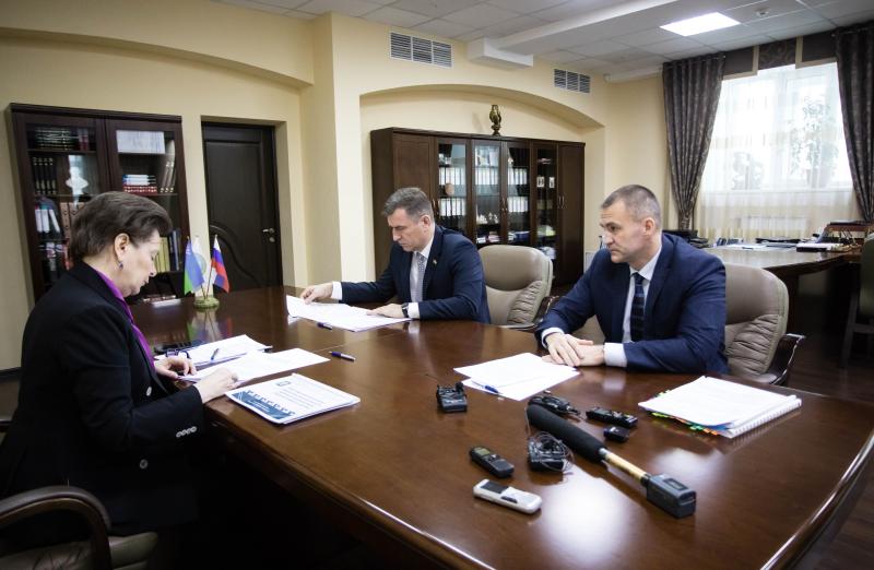 Встреча с губернатором Комаровой