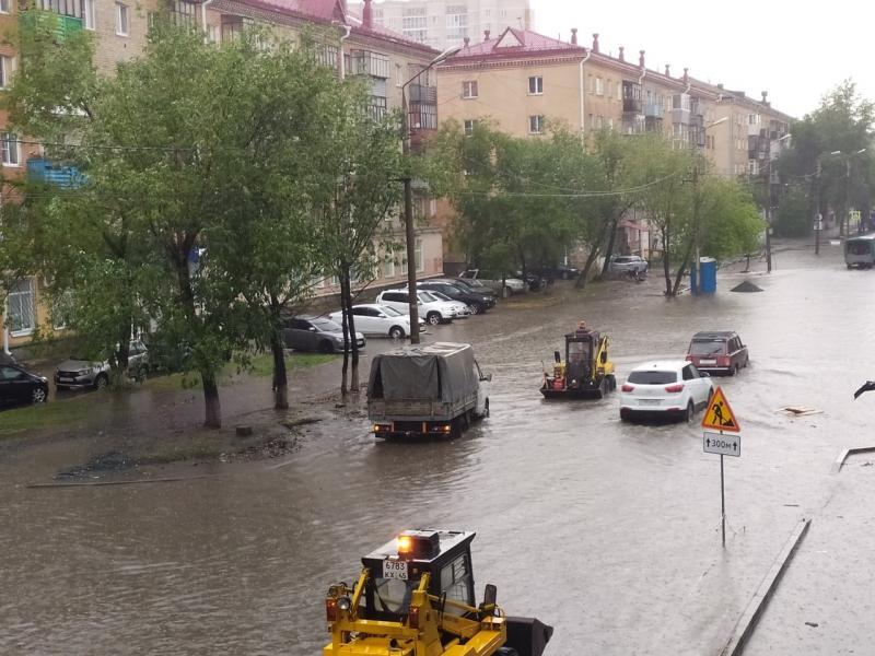 последствия ливня по ул. Кирова