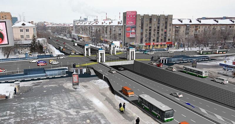Проект развязки на улице Республики