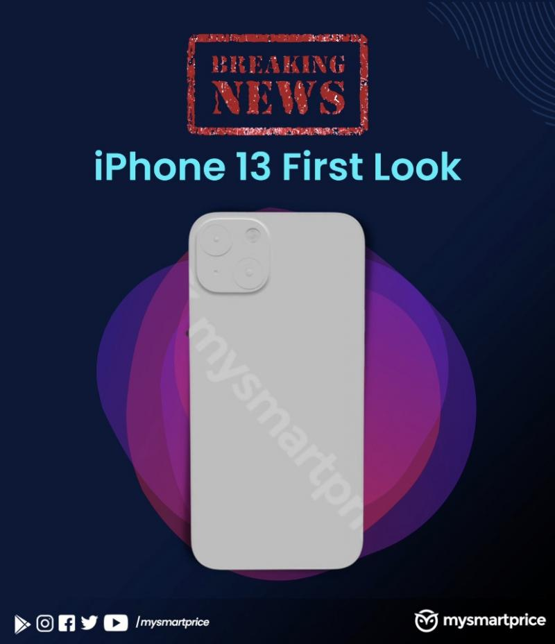 3D-рендер модели смартфона iPhone 13