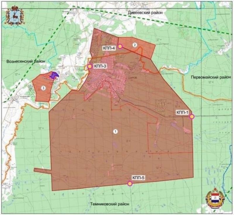 Карта расширения ЗАТО Саров